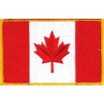 Canada Flag Embroidered Patch Canadian Maple Leaf