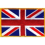 Embroidered UK Flags embroidery patches badge emblems
