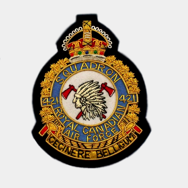421 Squadron Blazer Badge - Royal Air Force ( RAF ) Canadian Patches Cencinere Belligum