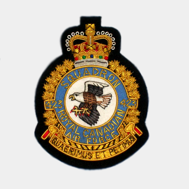 423 Squadron Blazer Badge - Royal Air Force ( RAF ) Canadian Patches