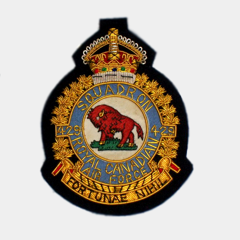 429 Transport Squadron Blazer Badge - 429 Transport Squadron Canadian Air Force ( CRAF ) Bullion crest
