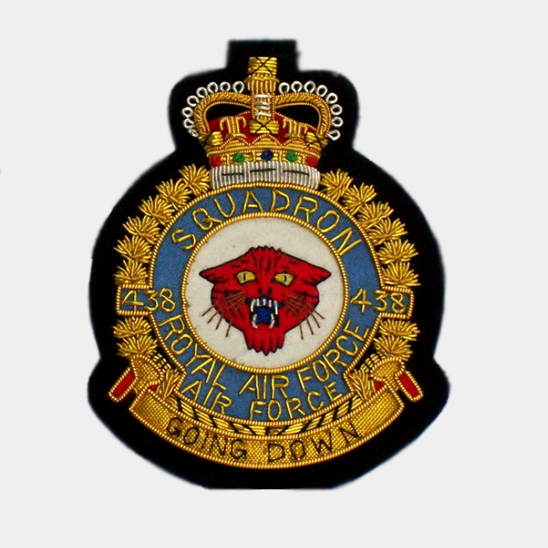 438 Squadron embroidered blazer Badge