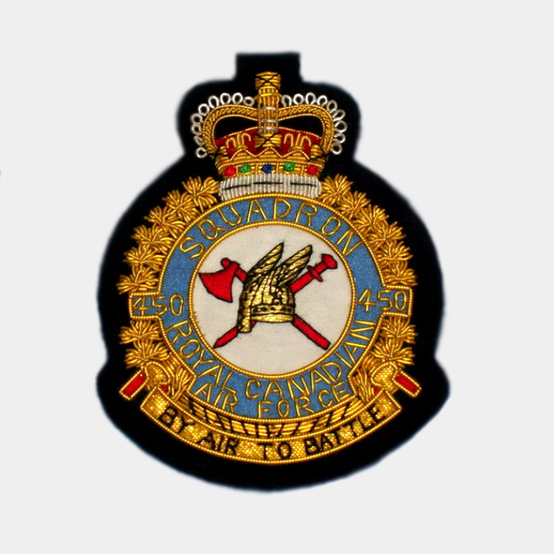 450 Squadron Blazer Badge - 450 Royal Air Force ( RAF ) Canadian Patches By air to battle