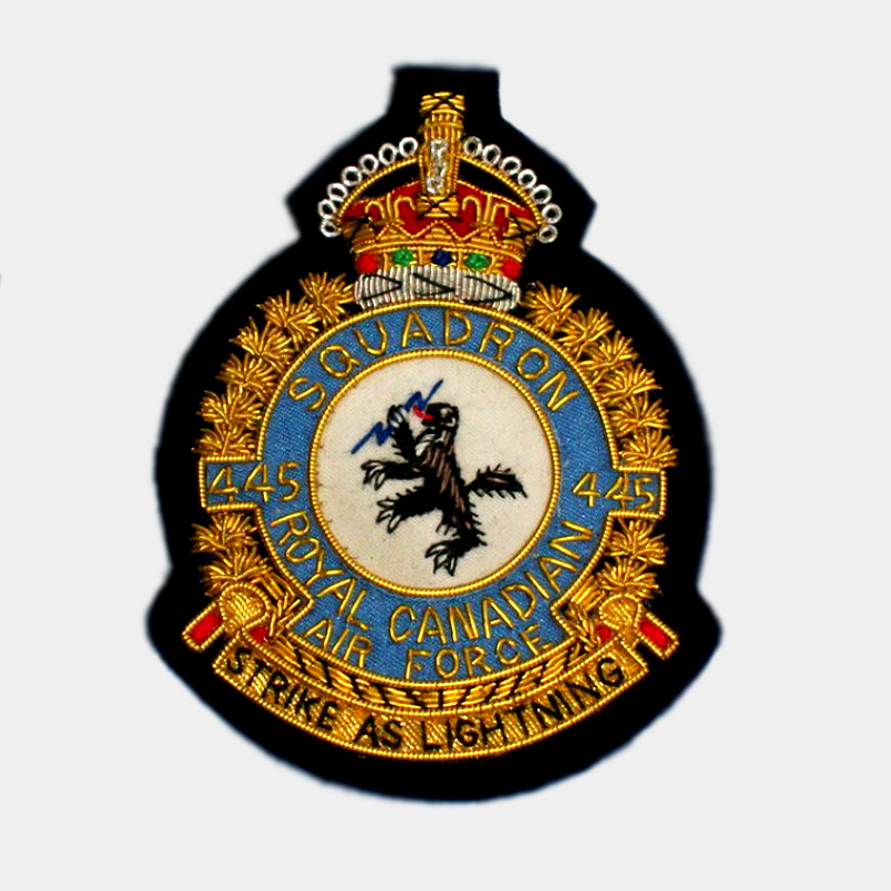 455 Squadron embroidered blazer Badge