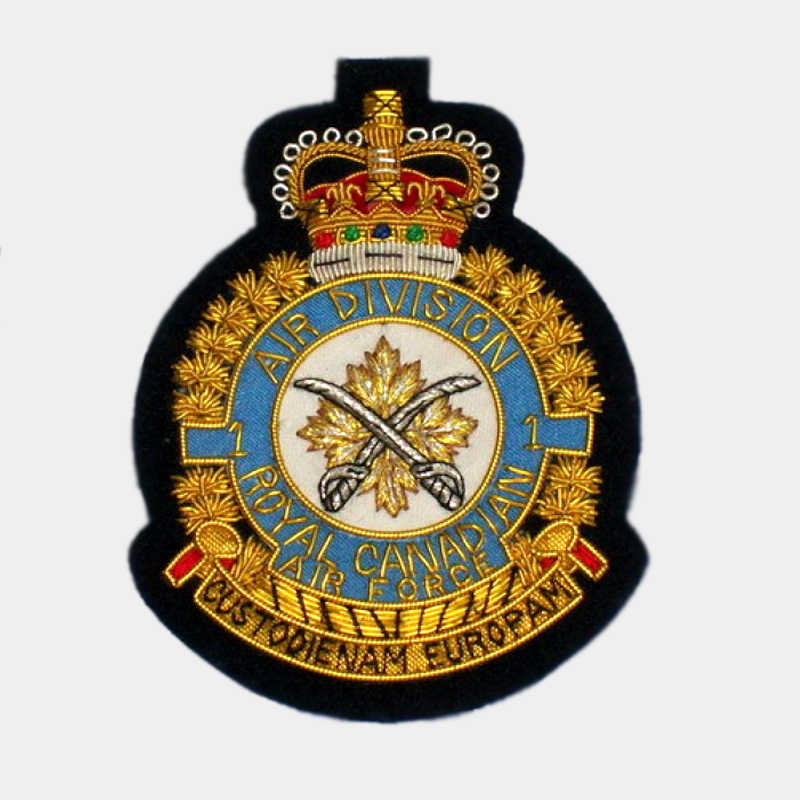air division squadron blazer badges Royal Air Force Canadian embroidered patches