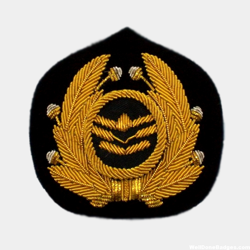 Gold Bullion wire cap badge
