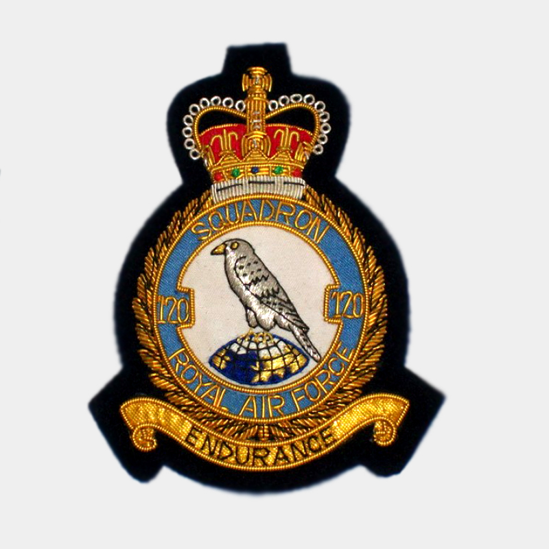 RAF - No. 120 Squadron Blazer bullion crest patches
