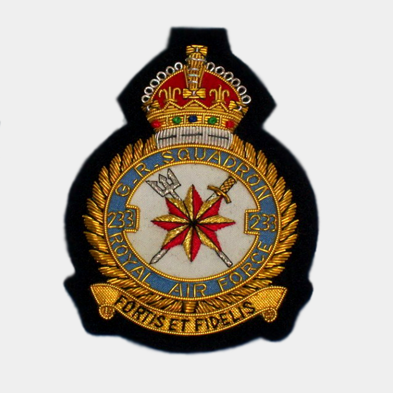 No. 233 Squadron RAF Royal Air Force squadron Blazer badges