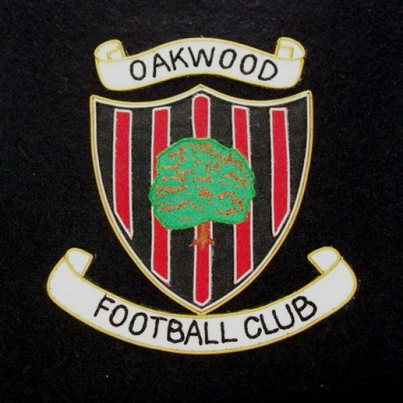 Oakwood football club Blazer Patch – Bullion Wire Blazer Badges