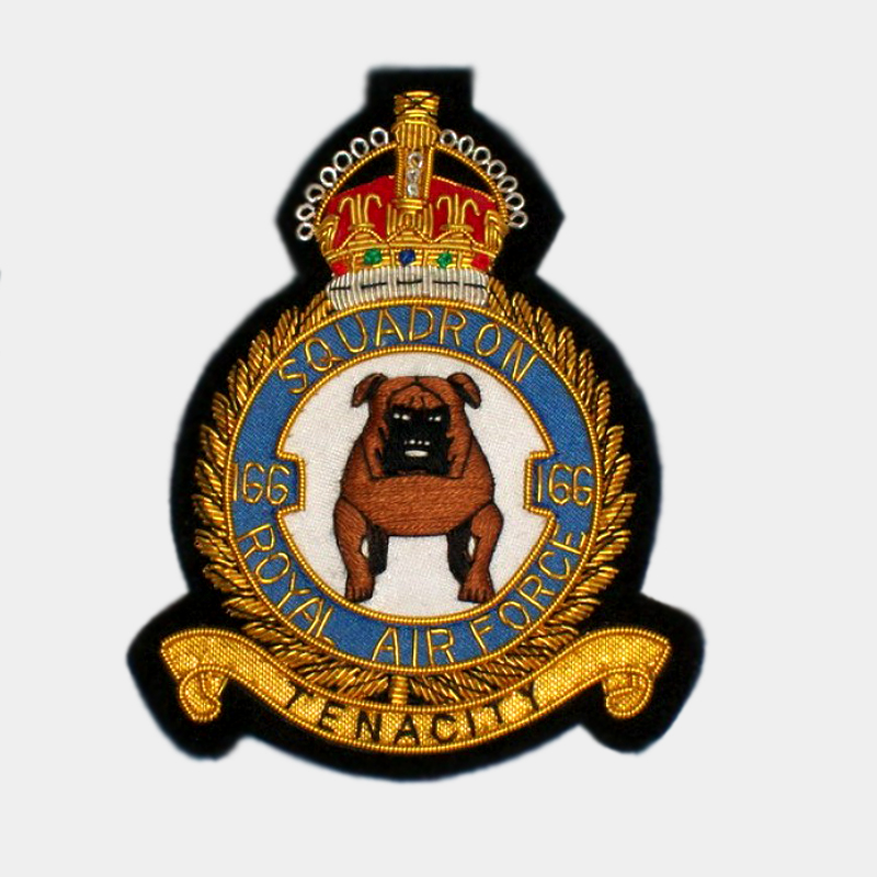 RAF - Bomber Command No.166 Squadron Blazer Patches
