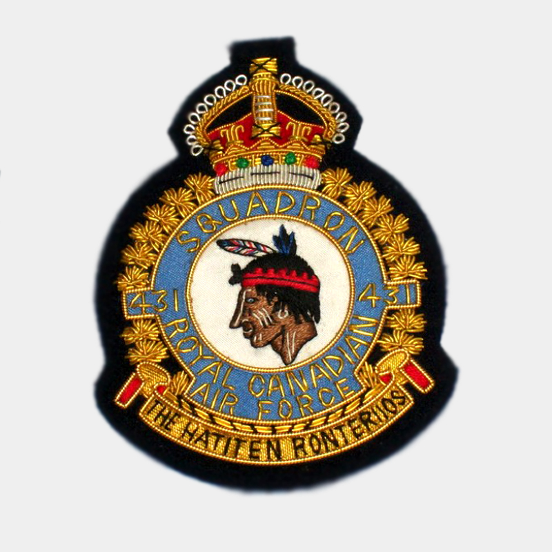 Bomber Command No.431 Squadron Blazer Badge - 431 Royal Air Force ( RAF ) Canadian The hatiten roniteruos