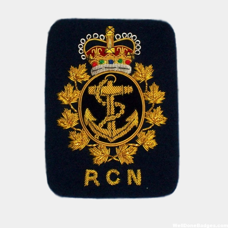 RCN Shoulder Rank Embroidered bullion wire patches