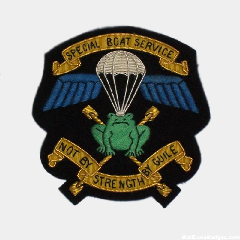 Special Boat Service Wire Blazer Badge