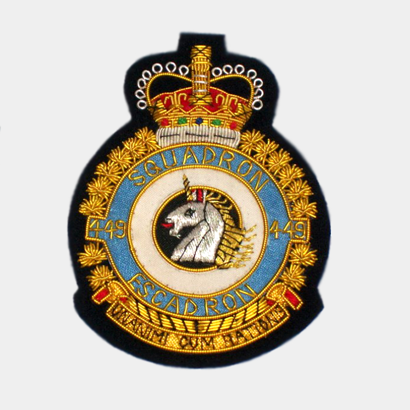 449 Squadron Blazer Badge - Royal Air Force ( RAF ) Canadian Patches