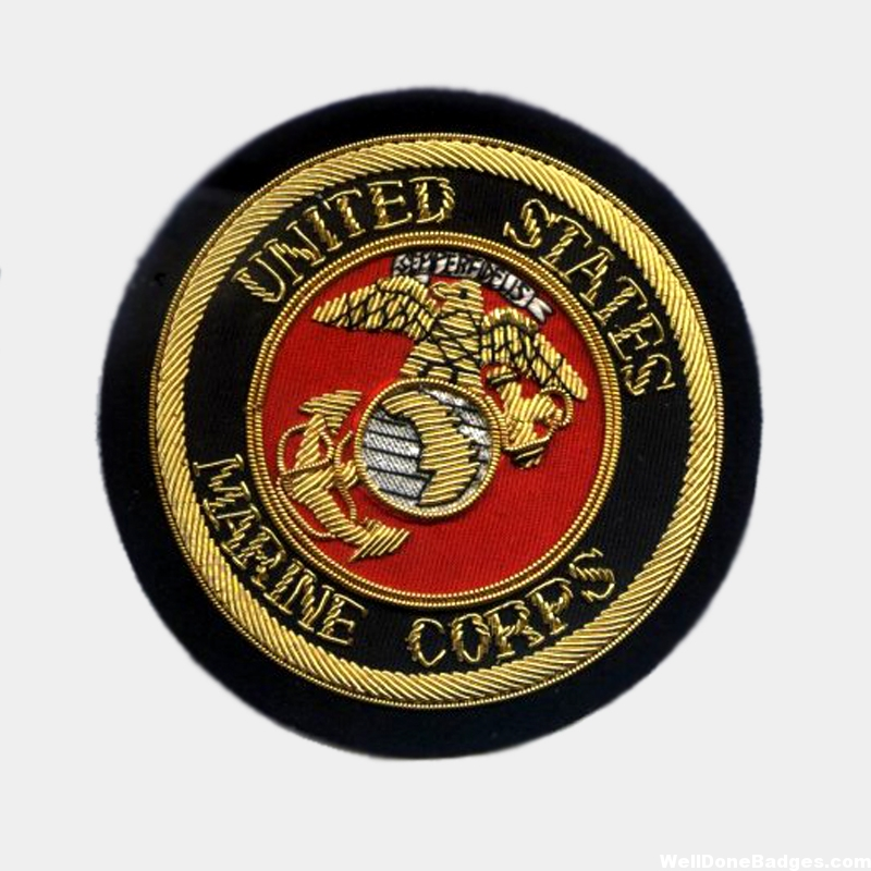 USA Marine Corps Bullion wire Blazer Badge