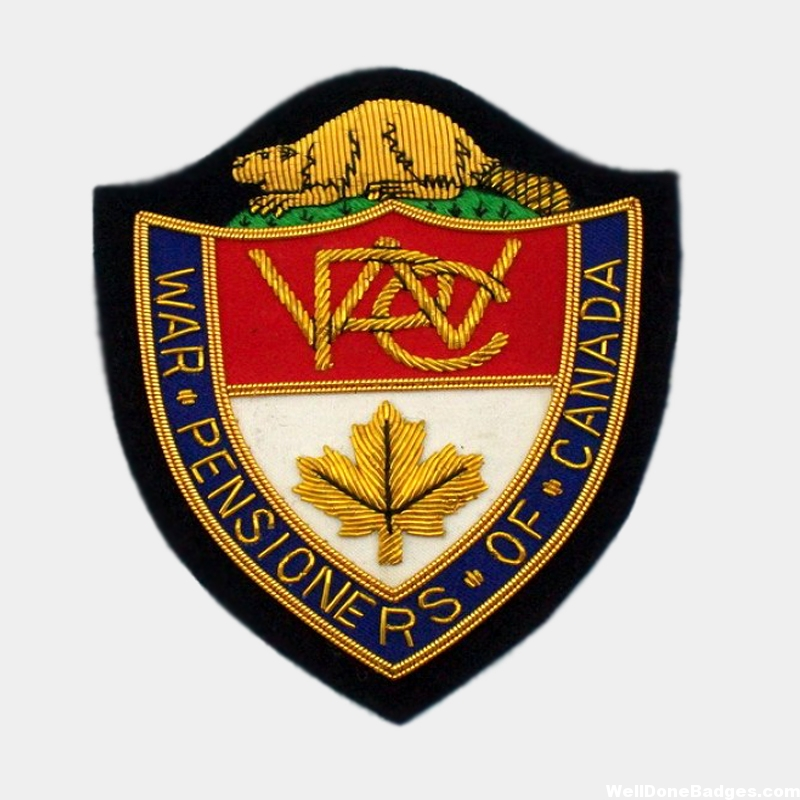 War Pensioners of Canada Association Embroidery Badge